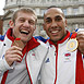 Boxers Tony Jeffries[Bronze],James DeGale [Gold]